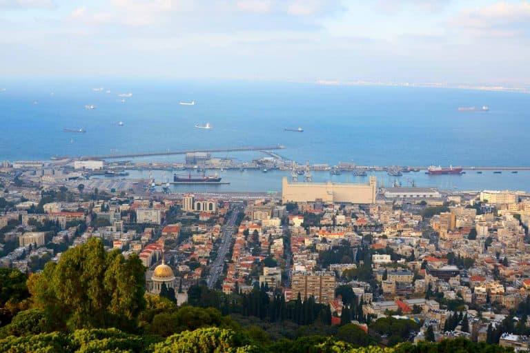 תמונות נוף של העיר חיפה